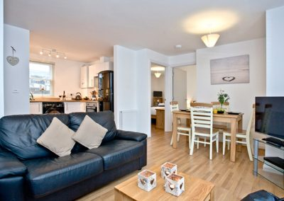 The open plan living and dining area @ 1 Captains Rest, Brixham