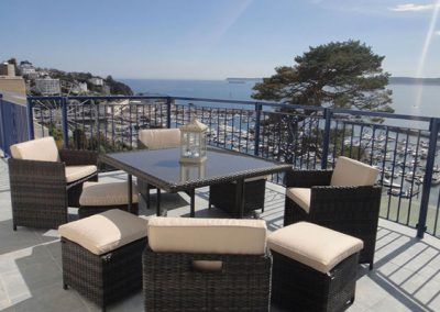 Enjoy fantastic views from the balcony @ The Bosuns Chair, Torquay
