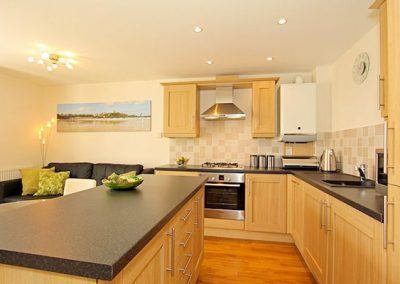 The kitchen @ 1 Harbour View, Newquay