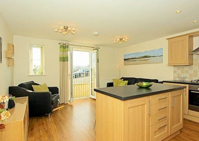 The kitchen & dining area @ 1 Harbour View, Newquay