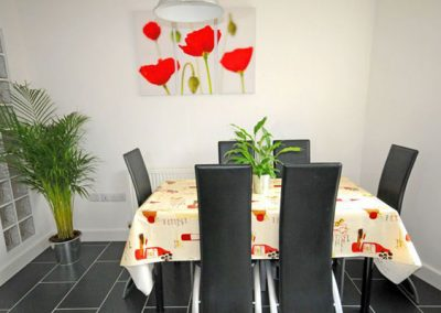 The dining area @ 1 Middle Manor Cottages, Brixham