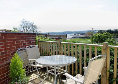 The outside patio @ 1 Roundham Heights, Paignton