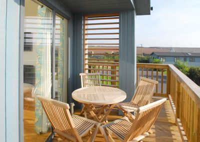 The decked patio @ 1 Salcombe Retreat, Salcombe
