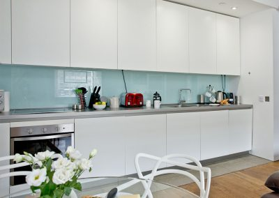 The open-plan kitchen at 10 Clarence, Royal William Yard, Plymouth