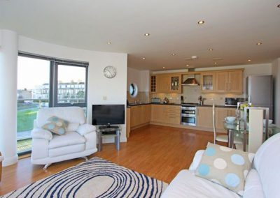 The living area @ 10 Horizons, Newquay