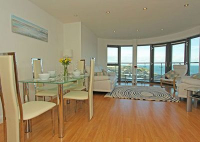 The dining area @ 10 Horizons, Newquay