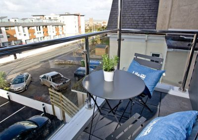 The balcony at 10 Seaquest, Newquay