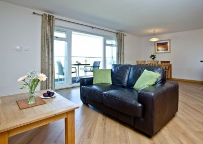 The living area at 11 Red Rock, Dawlish Warren