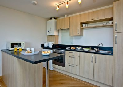 The kitchen at 11 Red Rock, Dawlish Warren