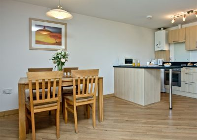 The dining area at 11 Red Rock, Dawlish Warren