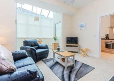 The living area at 11 Seaford Sands, Paignton