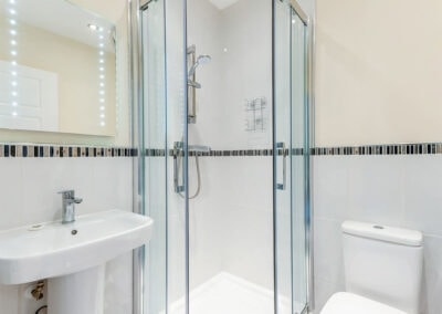 The shower room at 11 Seaford Sands, Paignton