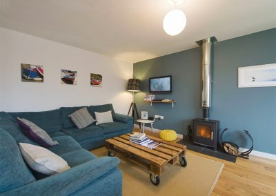 The living area at 12 Atlantic Close, Widemouth Bay