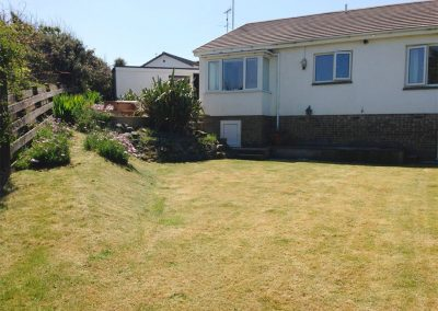 The garden at 12 Atlantic Close, Widemouth Bay