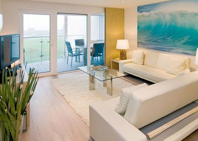 The living area @ 12 Ocean Gate, Newquay