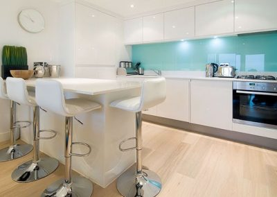The open-plan kitchen & dining area @ 12 Ocean Gate, Newquay