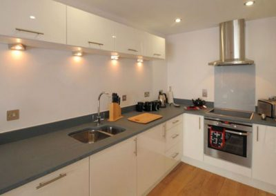 The kitchen @ 12 Ocean Point, Saunton