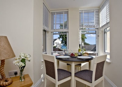 The dining area at 12 Seaford Sands, Paignton