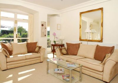 The living area @ 12 The Manor House, Torquay