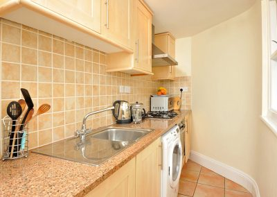The kitchen at 12 Trinity Mews, Torquay