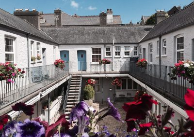 The community courtyard at 12 Trinity Mews, Torquay