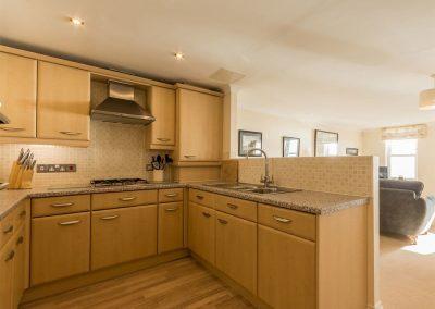 The kitchen at 13 Great Cliff, Dawlish