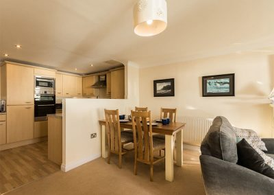 The dining area at 13 Great Cliff, Dawlish