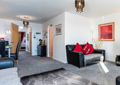 The living area at 14 Belvedere Court, Paignton