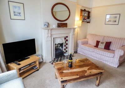 The living area at 14 Bramble Hill, Bude