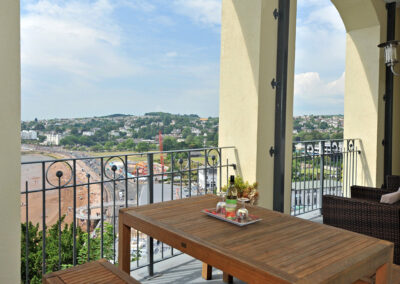 The balcony at 15 Astor House, Torquay