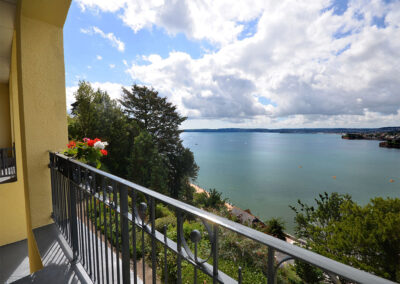 The balcony & beach view at 15 Astor House, Torquay
