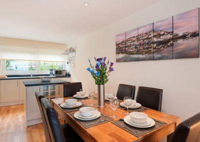 The dining area @ 15 Heath Court, Brixham