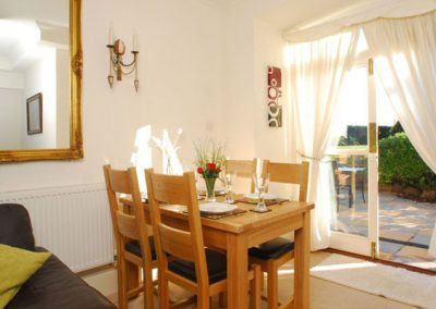 The dining area @ 16 The Manor House, Torquay