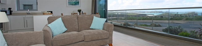 18 Zenith, Newquay - A modern apartment in a great setting with beautiful views over the North Cornwall coastline