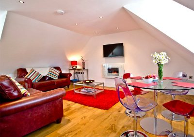The living area at 19 At the Beach, Torcross