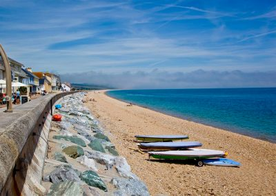 The beach at Slapton Sands is moments from 19 At the Beach, Torcross