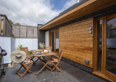 The outdoor patio at 2 Dart, Yalberton