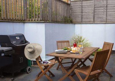 The outdoor patio & barbecue area at 2 Dart, Yalberton