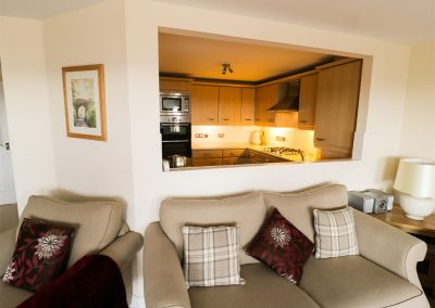 The living area at 2 Great Cliff, Dawlish