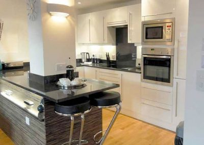 The stylish kitchen @ 2 Queens Quay, Torquay