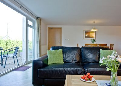 The living area at 2 Red Rock, Dawlish Warren
