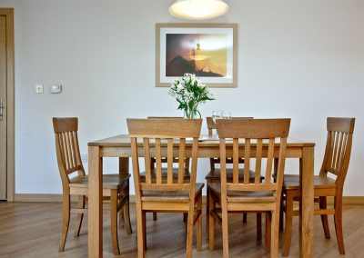 The dining area at 2 Red Rock, Dawlish Warren