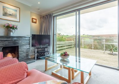 The living area at 2 Silvershell View, Port Isaac