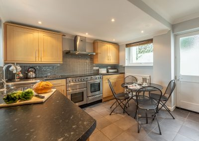 The kitchen at 2 Silvershell View, Port Isaac