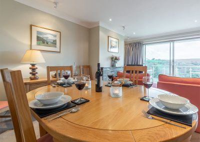 The dining area at 2 Silvershell View, Port Isaac