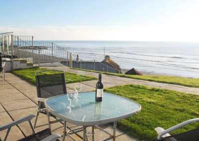 The terrace @ 20 Mount Brioni, Seaton has fantastic sea views