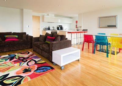 The open-plan living area @ 21 Zinc, Newquay
