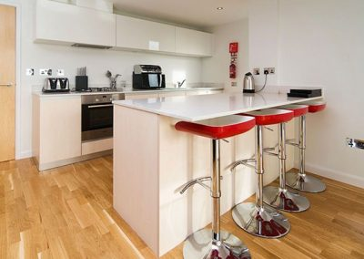 The open-plan kitchen @ 21 Zinc, Newquay