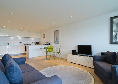 The open plan living area @ 22 Ocean Gate, Newquay