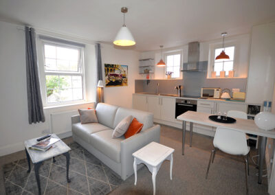 The open-plan living, dining area & kitchen at 22 Trinity Mews, Torquay